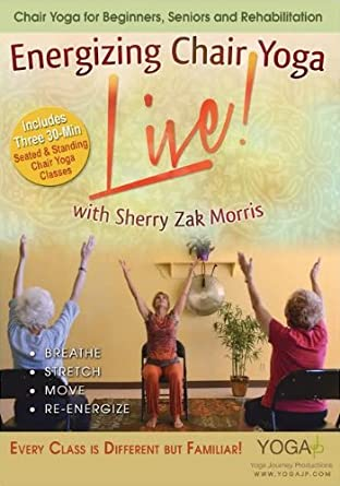 LIVE Trio! Energizing Chair Yoga DVD with Sherry Zak Morris ...