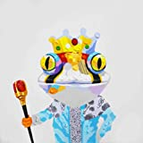 Bignut Art 100% Hand Painted King Frog Modern Framed Wall Art on Canvas for Living Room Bedroom Kids Rroom Home Wall Decor Ready to Hang (24''x24'') Prince and Scepter