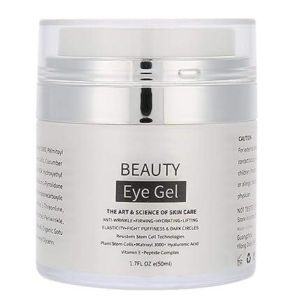 Gel Ojos - Delaman Crema Ojos Rica en Vitamina a + Ácido Hialurónico + Vitamina e