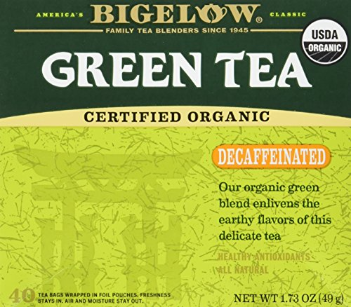Bigelow Tea, 40 Bags - Organic Decaffeinated Green (2 Pack)