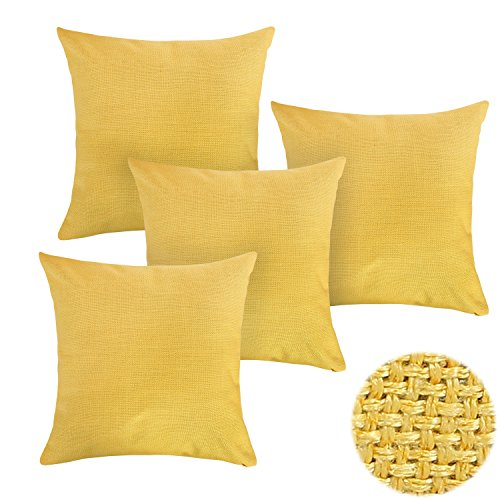 Deconovo Decorative Pillow Cushion Yellow product image
