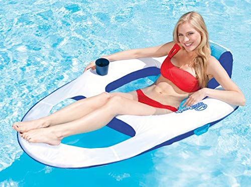 SwimWays Spring Float Recliner Floating Pool Lounge Chair (3-Pack) | 13018 by SwimWays (Image #3)