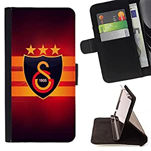 For Samsung Galaxy S6 EDGE galatasaray temas? Beautiful Print Wallet Leather Case Cover With Credit Card Slots And Stand Function