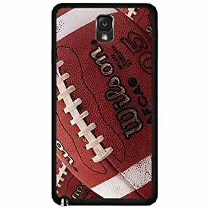 Detailed Football - Plastic Phone Case Back Cover (Galaxy Note 3)