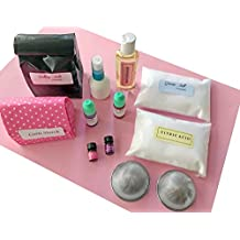 bMAKER Bath Bomb Making Kit- Complete Kit for Making DIY 8 Scented Bath Bombs with Therapeutic Essential Oils, Almond Oil, All Natural Colorants, Stainless Steel Molds.