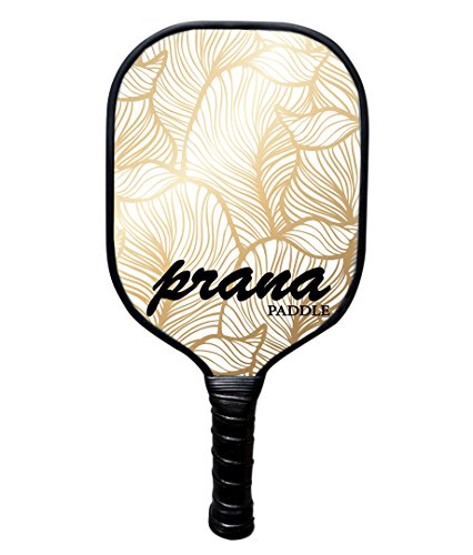 Prana Graphite Pickleball Paddle With Honey PP Core, All Carbon Pickle Ball Paddles Meet USAPA Specifications