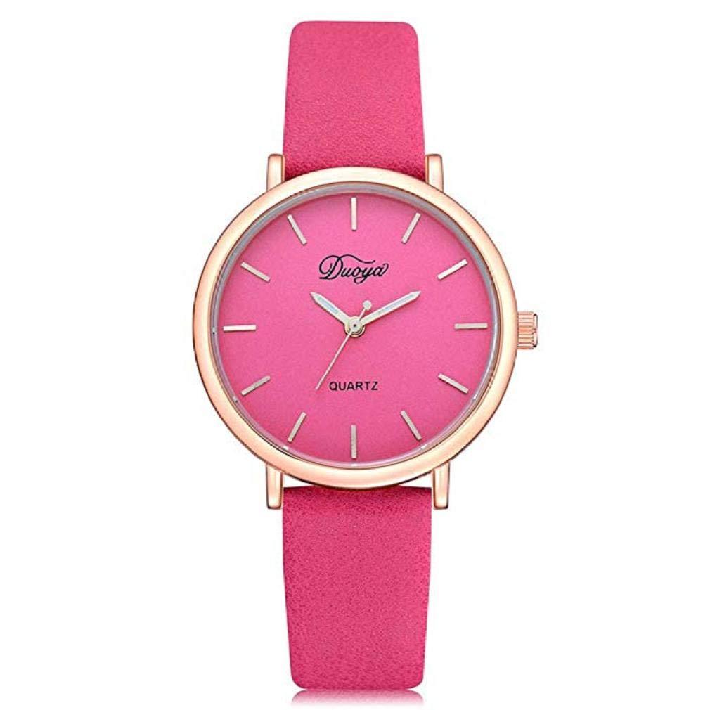Scpink Relojes de Mujer a la Venta Liquidación Reloj de Pulsera de Cuarzo de Moda con Banda de Cuero Reloj de Pulsera de Cuarzo analógico Simple Casual ...