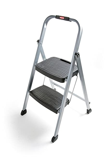 Fabulous Rubbermaid Rm 2W Folding 2 Step Steel Frame Stool With Hand Caraccident5 Cool Chair Designs And Ideas Caraccident5Info