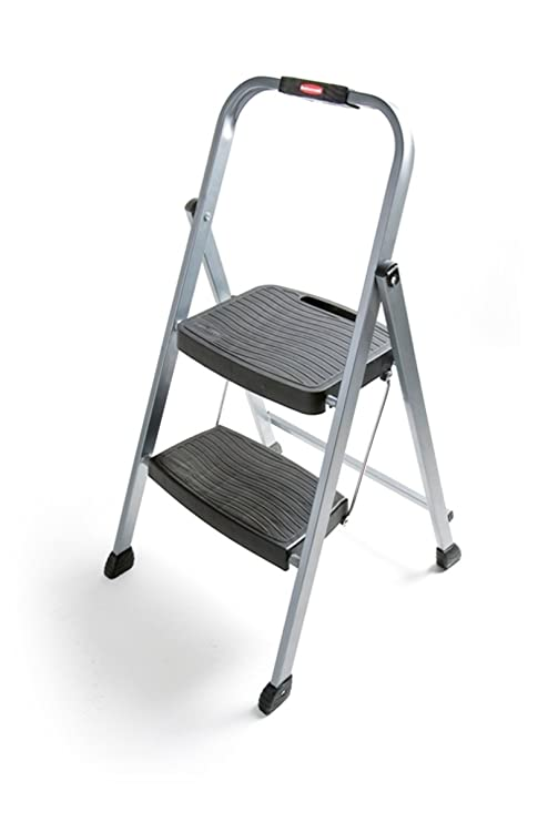 Swell Rubbermaid Rm 2W Folding 2 Step Steel Frame Stool With Hand Grip And Plastic Steps 200 Pound Capacity Silver Finish Short Links Chair Design For Home Short Linksinfo