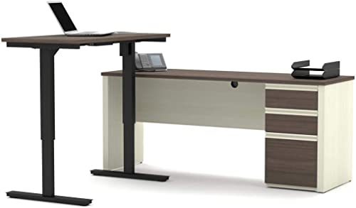 Bestar 2-Piece Set Including a Standing Desk and a Desk - the best home office desk for the money
