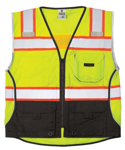 Safety Vest, 3XL, Lime, Male