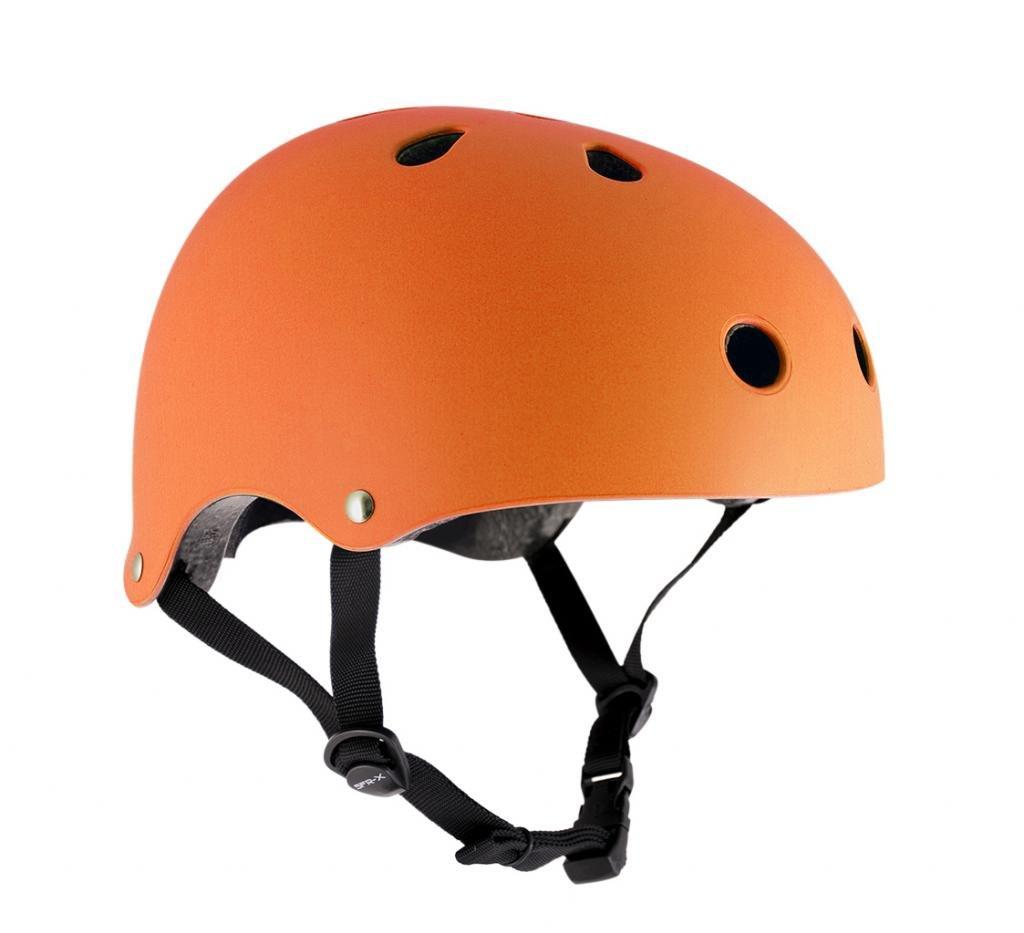 SFRスケート/スクーター/BMXヘルメット - マットフルオオレンジ(小から中:53cm - 56cm)