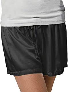 product image for PJ Harlow Women's Mikel Satin Boxer Short, Black, Small