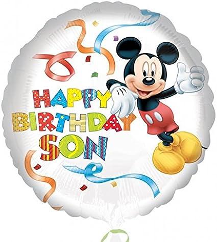 Amazon.com: Anagram – Mickey Mouse feliz cumpleaños hijo ...