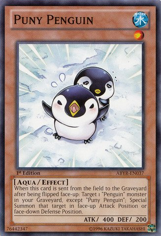 Yu-Gi-Oh! - Puny Penguin (ABYR-EN037) - Abyss Rising - Unlimited Edition - (En037 Common Card)