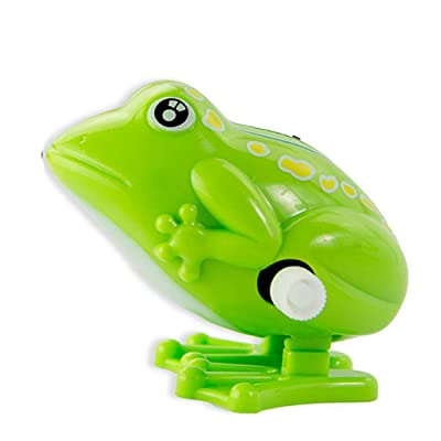 1pc Clockwork Frog Toy NostalgicToys Plastic Frog Jumping Frog for Children and Adult Educational Fun Toys Gift(Green): Toys & Games