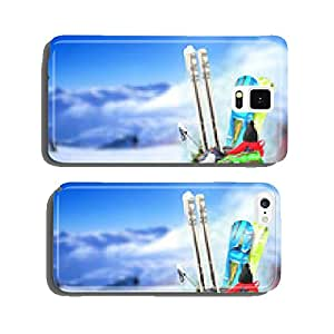 Baggage tourist skier and snowboarder, winter travel cell phone cover case iPhone5