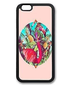 DaojieTM Generic Custom Iphone 6 Case,tropical Red Ostrich As Black Iphone 6 Plus 5.5 Inch Cases