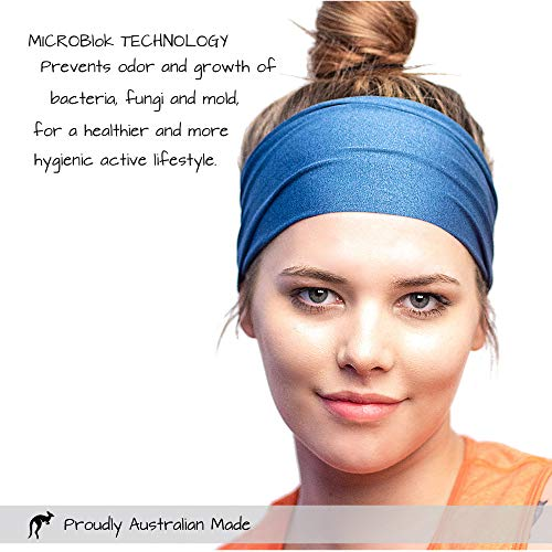 Red Dust Active Workout Headband - Ideal for Sports, Fitness, Running, The Gym & Yoga - Moisture Wicking - Non-Slip - Exercise Sweatband - Designed for Versatility & The Active Women by Red Dust Active (Image #4)