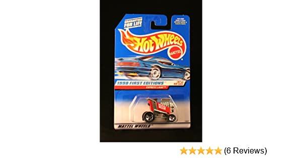 Limited Edition Red racing shopping kart 1998 Collectible 18537 MOC Mattel // Hot Wheels - 1998 First Editions #37 of 40 Cars OOP 1:64 Scale Die Cast Metal Express Lane