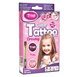 Glitter Tattoo Kit for Girls with 15 amazing stencils - HYPOALLERGENIC AND CRUELTY FREE - 8-18 lasting temporary tattoos