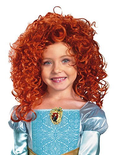 Brave Merida Wig, Red, One Size - Merida Costume Kids