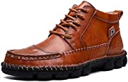 Veool Men's Casual Boots Leather Chukka Boots Hiking Work S