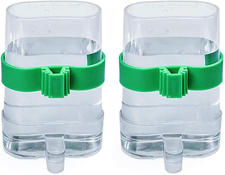 Jixista 2pcs Comedero de pájaros automático Jaula dispensadora de Agua y alimento automático alimentador de pájaros alimentador de Agua de Comida Bebedero automático Parrot dispensador