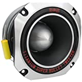 Absolute USA PBT43S 4-Inch Titanium Bullet High Compression Tweeter with 11 Oz Ferrite Magnet