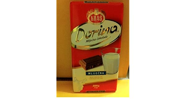 Amazon.com : Kras Dorina Mlijecna 200 G : Chocolate Candy : Grocery & Gourmet Food