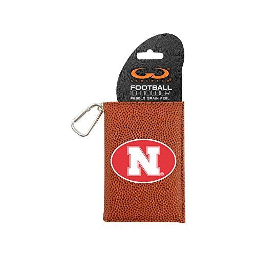 GameWear NCAA Nebraska Cornhuskers Classic Football ID Holder, One Size, Brown - Nebraska Cornhuskers Brown Football