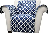 Lush Decor Ikat Arm Chair Furniture Protector, Navy