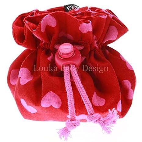 Louka - Funda con clip para chupete, color roja con ...