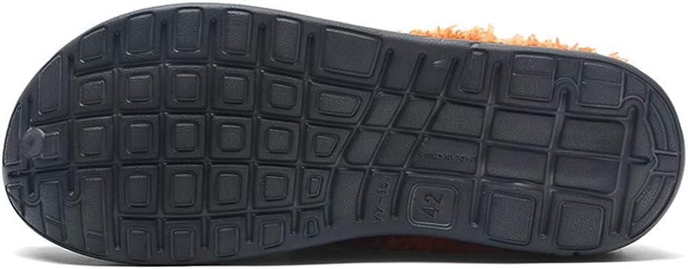 Hiver Jardin Sabots Hommes Femmes Pantoufles Chaud Peluche Int/érieur Maison Chaussons Coton Chaussures Douces Anti-Slip dint/érieur et dext/érieur