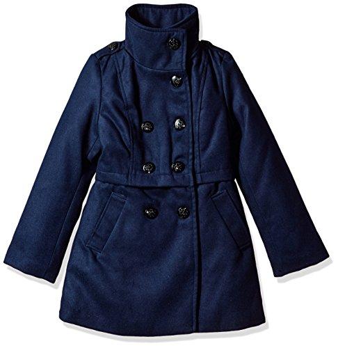 (Jessica Simpson Girls' Big Faux Wool Dress Coat, True Navy, 8 )