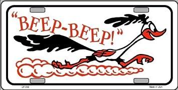 NOVELTY VANITY LICENSE PLATE MADE IN U.S.A. BEEP THE ROADRUNNER BEEP
