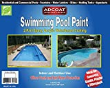 Swimming Pool Paint, 2-Part Epoxy Acrylic Waterbased Coating, 1 Gallon Kit - White Color