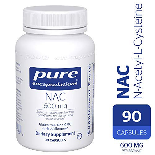 Pure Encapsulations - NAC (N-Acetyl-L-Cysteine) 600 mg - Amino Acids to Support Antioxidant Defense and Healthy Lung Tissue - 90 Capsules