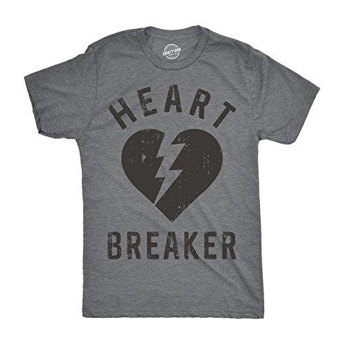 Mens Heartbreaker Tshirt Funny Valentines Day Tee For Single Guys -XXL