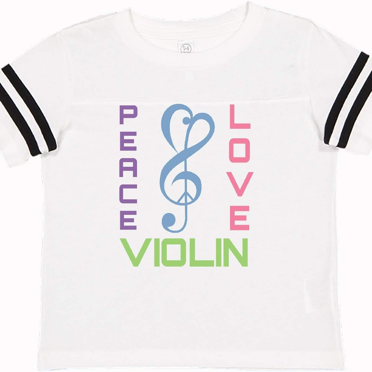 inktastic Peace Love Violin Toddler T-Shirt