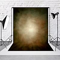 Photography Backdrops 5x7 feet, Fabric Cloth Photo Background, Solid Brown Customized Background Studio Props for Photography,Video and Television, Wrinkle Free