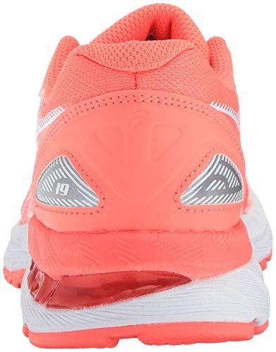 Asics Unisex-Kind Gel-Nimbus® 19 GS Schuhe Flash Coral/White/Coral