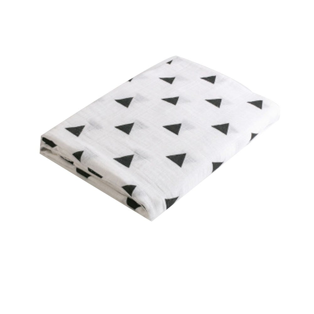 Swaddle Blankets Muslin Bamboo Cotton Baby Swaddle Wrap, Burping Cloth & Stroller Cover Baby Blanket ZhengNongShangMao