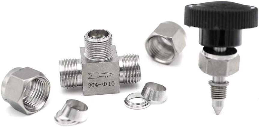 Specification : 3mm OD NO-LOGO SUOFEILAIMU-Valve Adjustable Needle Valve OD 3 4 6 8 10 12 mm 3//8 1//2 Inch Tube Kitchen Shutoff Compression Switch Fifing 304 Acid Set Crane