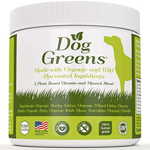 Dog Greens- Organic Wild Harvested Vitamin Mineral Supplement Dogs - Add to Home Made Dog Food, RAW Food Kibble - No Hassle-30 Day!