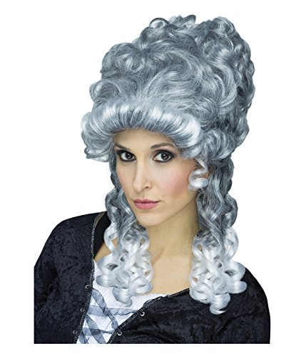 Fun World Adult's Ghostly Lady Wig, silver -