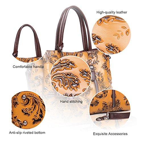 Soft Handbags Bags Leather Tote Cow Women Handbags Satchel Designer APHISONUK for Red Shoulder P0qXxpPz