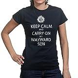 Keep Calm and Carry On My Wayward Son Rock Kansas Ladies T-shirt