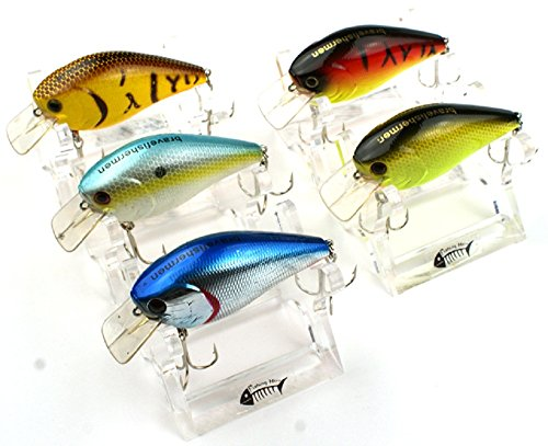 Bravefishermen Minnow CrankBaits Lot of 5pcs Fishing Lures
