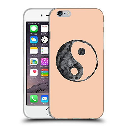 GoGoMobile Coque de Protection TPU Silicone Case pour // Q08600604 Yin yang 1 Abricot // Apple iPhone 7